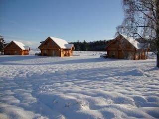 Wintery scene at the Lodges.