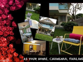 As Your Home Chiangmai, New House 3BR, 6Beds, Full furnished, Free Wifi/2 Bikes.