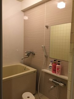 bath and shower with strong hot water pressure