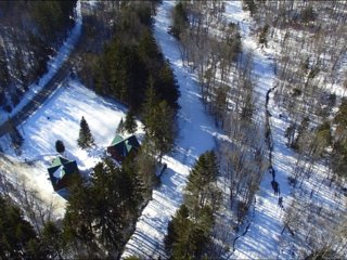 Just steps on to Great Eastern Trail with snow making, one of the best ski in/out locations on the mountain