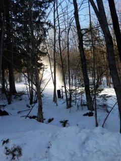 Snow guns on Great Eastern
