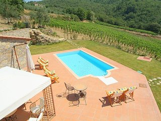 Gaiole in Chianti Villa Sleeps 8 with Pool Air Con and WiFi - 5228802