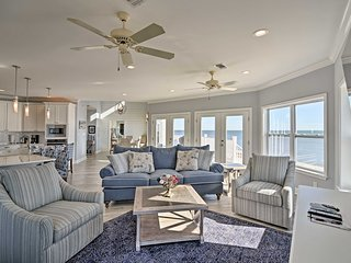 NEW! Beachfront 4BR Ocean Springs Home w/ Views!