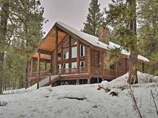 NEW! 2BR+Loft Log Cabin on 9 Acres-Near Brundage!