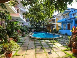 Goan Courtyard Studio Apartment Poolside (Perch)