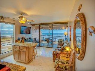 West Maui Beach Front, High-End Remodel Condo—Fabulous Ocean View; 1 BR/1BA