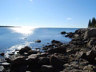 Oceanfront Home w/crashing surf in Schoodic/Acadia