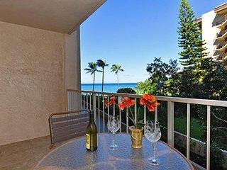 New Studio Listing with Beautiful Ocean View! Royal Kahana 202