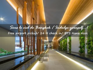 New Luxury 1BR/Nana/Asok BTS/Infinity Pool/FREE Airport Pick up! (2)
