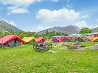 Private tent with a serene view, ideal for adventurers