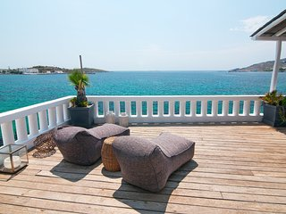 Iconic seafront villa in Poseidonia with private dock