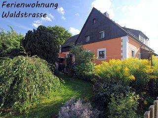 'Haus Waldstraße' am Waldrand - Im großen Garten freier Auslauf für Hunde