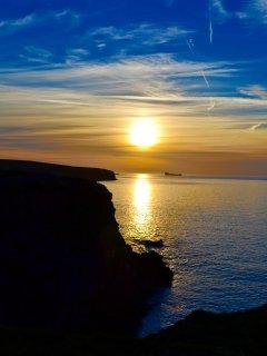 Sunset from coastal path