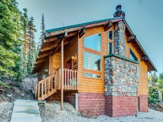 Upscale modern cabin w/ lovely views - great location, walk to the slopes!