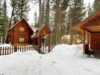 Riverfront log cabin w/ wood stove & home conveniences - dogs welcome!