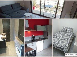 T2 meuble, independant tout confort avec balcon expo Sud et garage (104)
