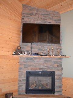 Living room fireplace/T.V.