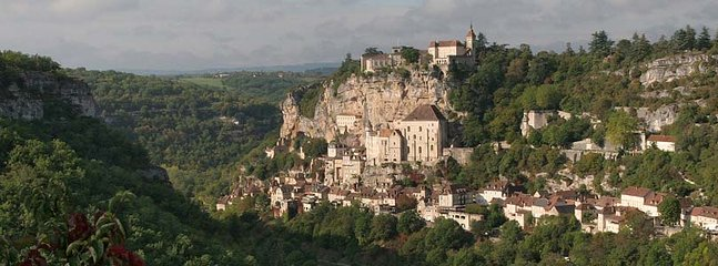 Rocamadour beautiful perched town.