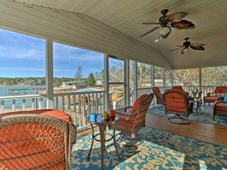 Waterfront Lake Martin Home w/ Porch & Boathouse!