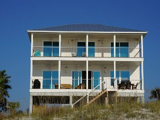 Newly built, gulf front home only steps to the beach!