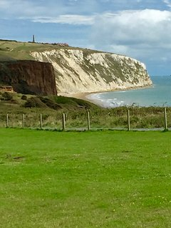 The stunning Culver Cliff as seen from the site
