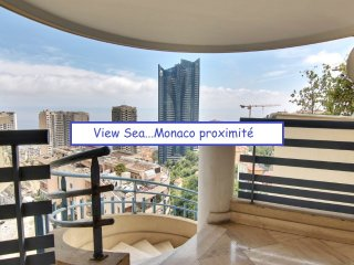 Vue MER TOUR ODEON ..15' MONACO..piscine, garage, fitness all inclusive
