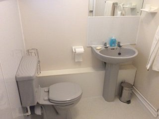 Modern shower room and toilet.