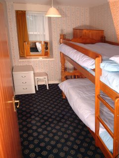 Bunk bedded bedroom.