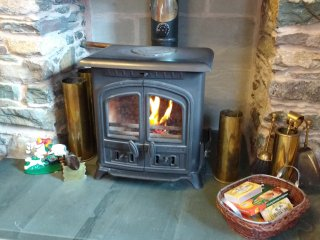 You can come home to a real woodburner.