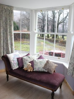 Large double bedroom with views of Grisedale Beck and Place Fell.