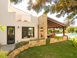 Luxury villa with private pool, patio and big garden