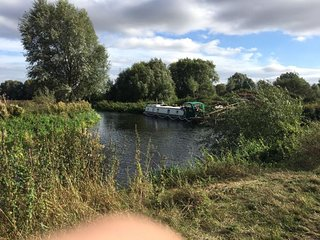 The Iron Duke - Luxury wide beam Canal boat overnight stay including Breakfast.