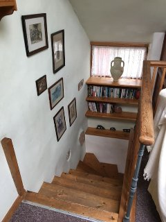 Down the stairs to the kitchen - diner