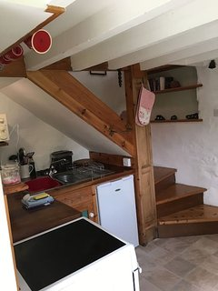 Kitchen at the bottom of the stairs