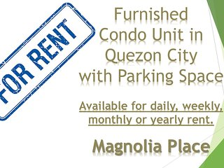 Family Condo Unit in Magnolia Place, Quezon City