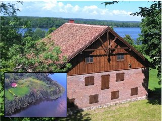 Restored Barn Private Beach, Granary Spichlerz Mazury Lake Dadaj. Total Privacy