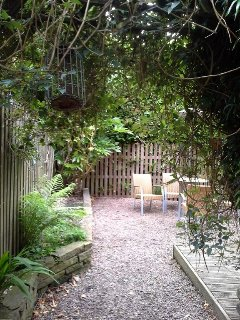 Courtyard garden in the rear. Great place for a cuppa after a long hike.