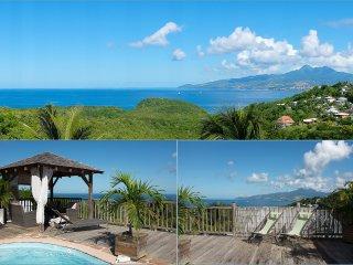 Charmante Villa avec Piscine et Vue Imprenable sur la mer des Caraïbes