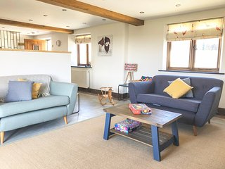 HOUDINI, open plan living, Smart TV, Pet Friendly, views of Devon countryside, R