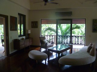 Charming, spacious,renovated Thai style house with large salt water pool.