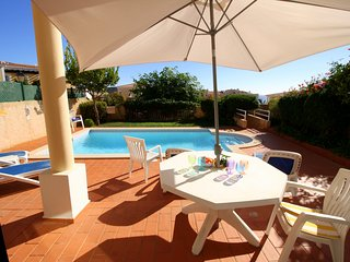 Casa Sossego in Praia da Luz. Sea Views, private pool and walk to the beach !