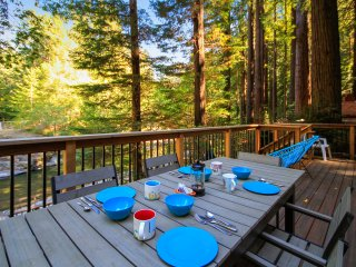 Dreamwood - Wonderful Family Cabin on Austin Creek - Redwoods, Sauna, Views
