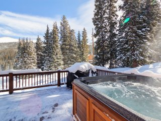 Winter hot tub view