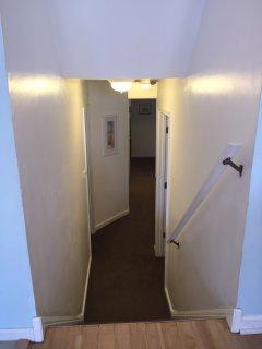 Hallway looking down towards bedrooms