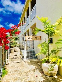 Villa Mia's entrance in Oistins, barbados