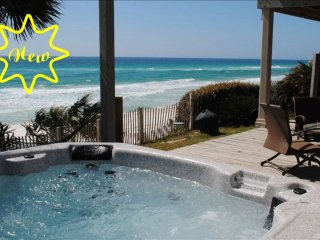 5br Beach Gulf front Home with Hot Tub Spa sleeps 19