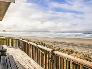 Easy-Going Fun in this Five-Bedroom Oceanfront Home with Private Beach Access