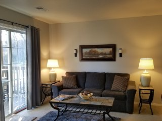 Living Room has a Sofa Sleeper, Free Wi-Fi, Cable TV, DVD Player & Phone.