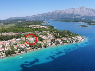 Two bedroom apartment Lumbarda (Korčula) (A-4440-d)