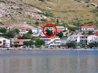 Three bedroom apartment Metajna (Pag) (A-6423-a)
